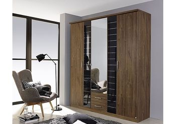 3-Rauch-Terano-5-Door-Combi-Wardrobe-in-Oak-and-Black-W-181cm